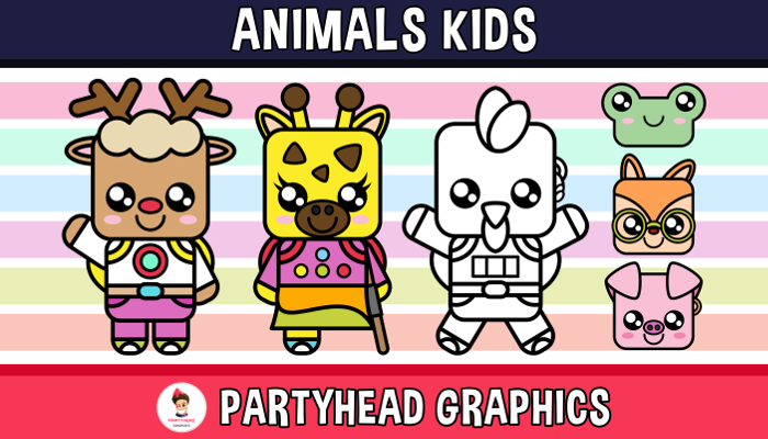 Animals Kids (Assets For Children´s Games)