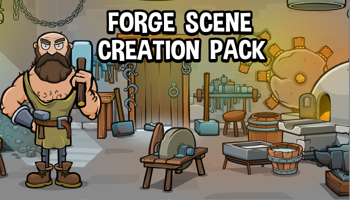 Blacksmith forge 2d scene creation pack
