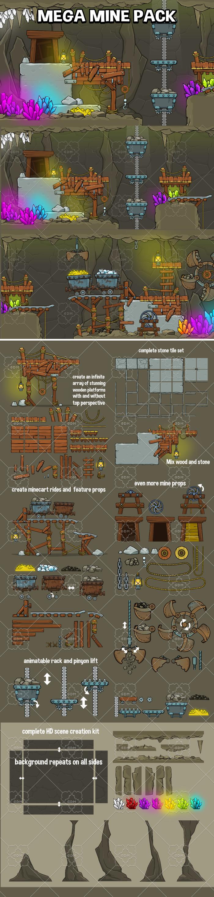 Mega mine creation pack