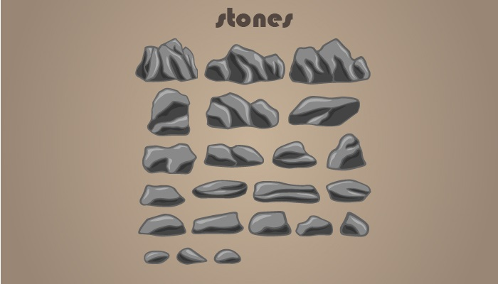 2D Cartoon Stones Pack