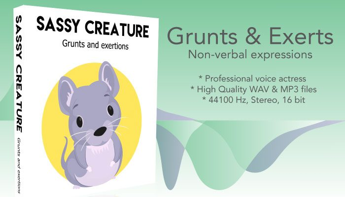 Sassy Character – Grunts and Exertion Noises