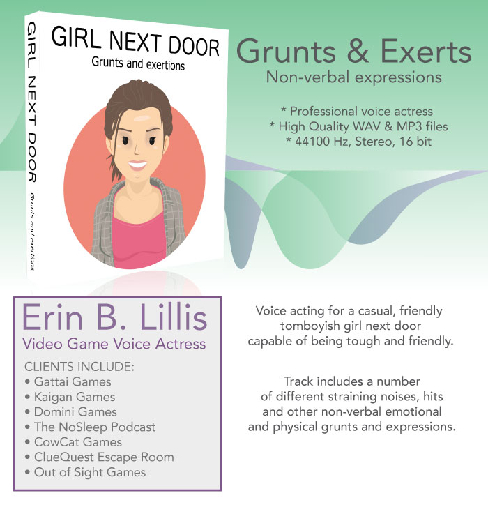 Girl Next Door – Grunts and Exertion Noises