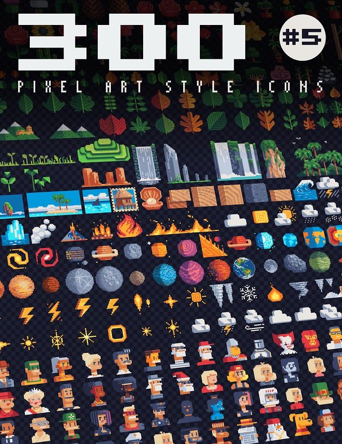 300 icons