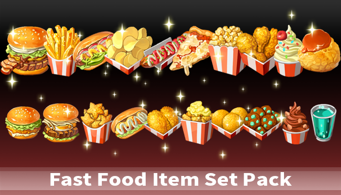 Fast Food Item Set Pack