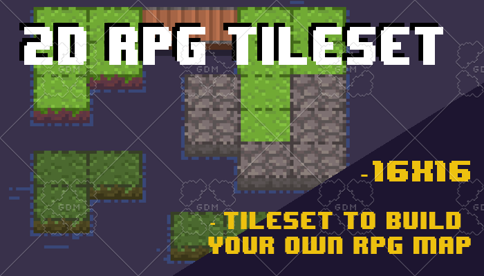 2D RPG Floor Tileset – Pixel Art