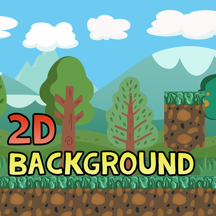 2D Cartoon Background – The Forest Gumps