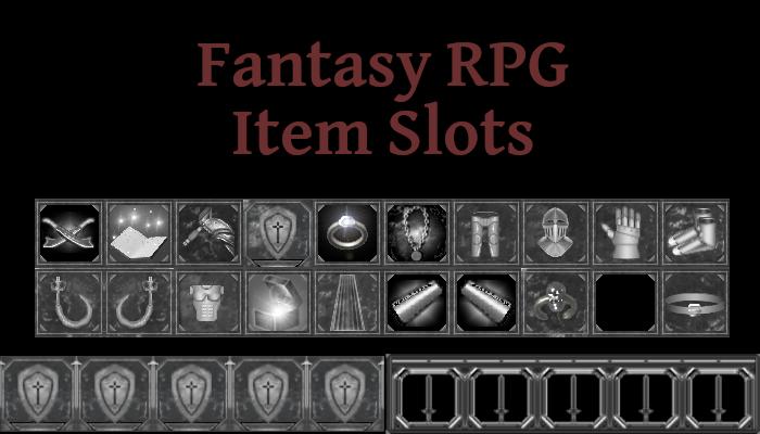 Fantasy RPG Item Slots