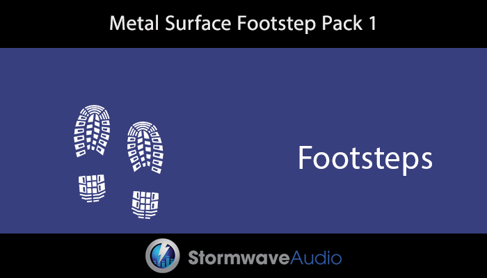 Metal Surface Footstep Pack 1