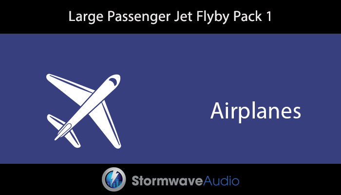 Large Passenger Jet Flyby Pack 1