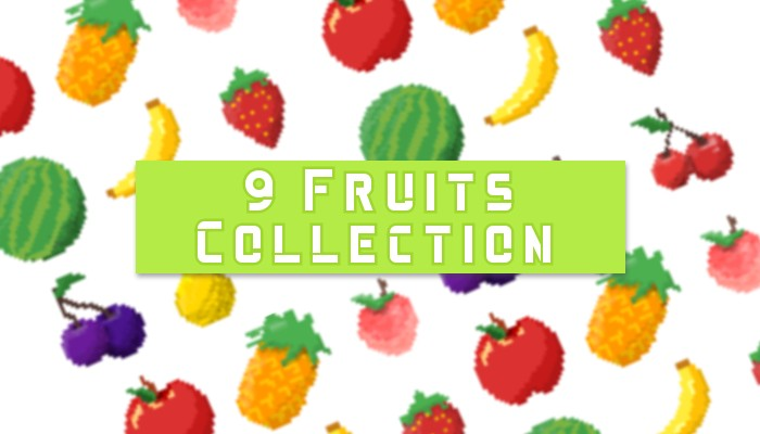 2d pixel Fruits.