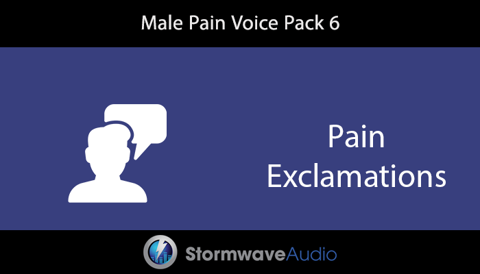 Male Pain Voice Pack 6