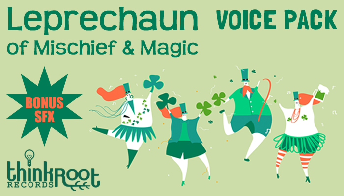 Leprechaun of Mischief & Magic Character Voice + Bonus SFX