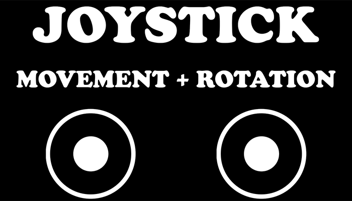 Joystick movement + rotation simple input multi touch virtual controls. Fixed and floating options
