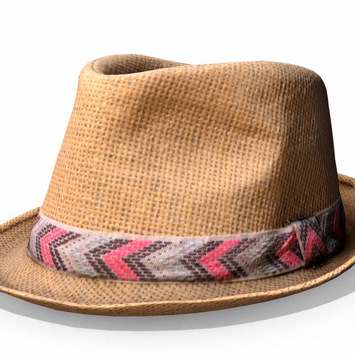 "Straw Hat ""Ibiza"" – Photoscanned PBR"