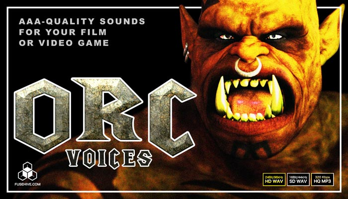 ORC VOICES – Fantasy Mythological Middle Earth Medieval Monster Creatures Voice Over Samples Library