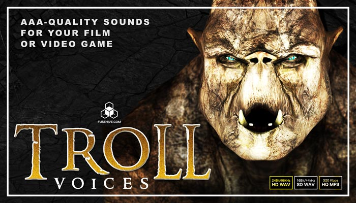 FANTASY CAVE TROLL VOICES – Medieval Myth Middle Earth Monster Creatures Voice Over Samples Library