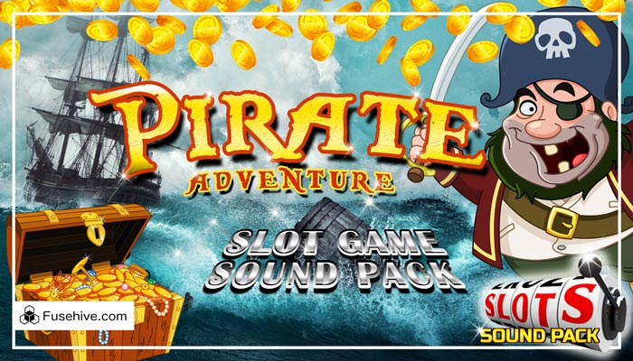 PIRATES! Casino Slot Game Music & Sound Effects Library – Caribbean Adventure Royalty Free SFX Audio