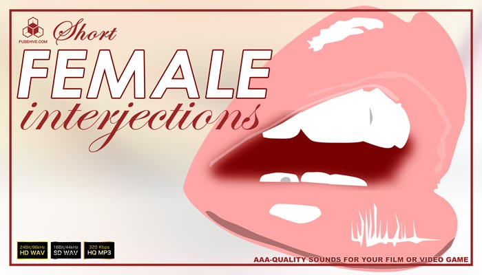 FEMALE VOICES – Royalty Free Short Interjections of Women & Girl Voice Overs Library Sounds Download