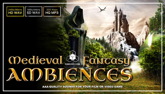 FANTASY MEDIEVAL AMBIENCES – Background Environment & Soundscapes Royalty Free Sound Effects Library