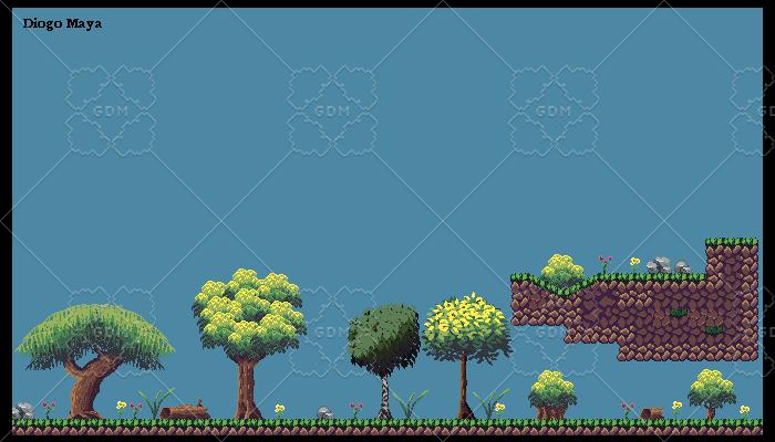 2D Forest Tileset 16×16 + Assets