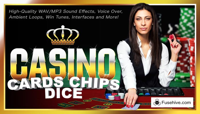 COMPLETE CASINO! Cards Dice & Chips LAS VEGAS Gambling Games Royalty Free AAA Sound Effects Library