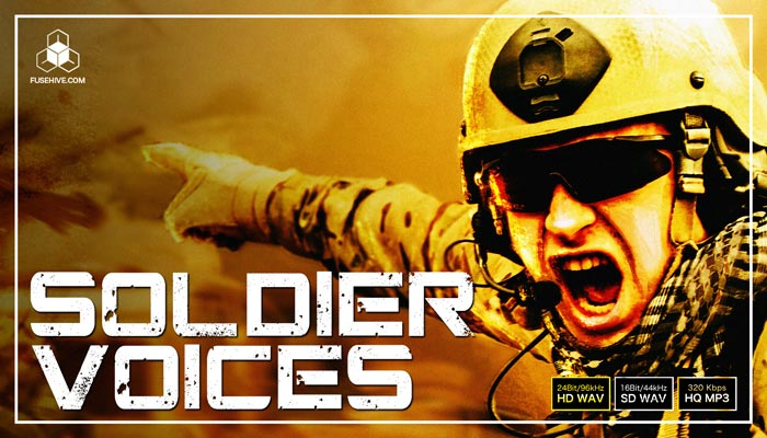 ARMY SOLDIERS! Military Battle Warrior Combat Voice Overs AAA Royalty Free Sound Library Audio Pack