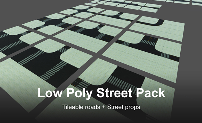 Road and Street Props Pack Low-poly 3D model