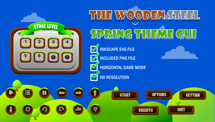 The Wooden Steel Spring Theme