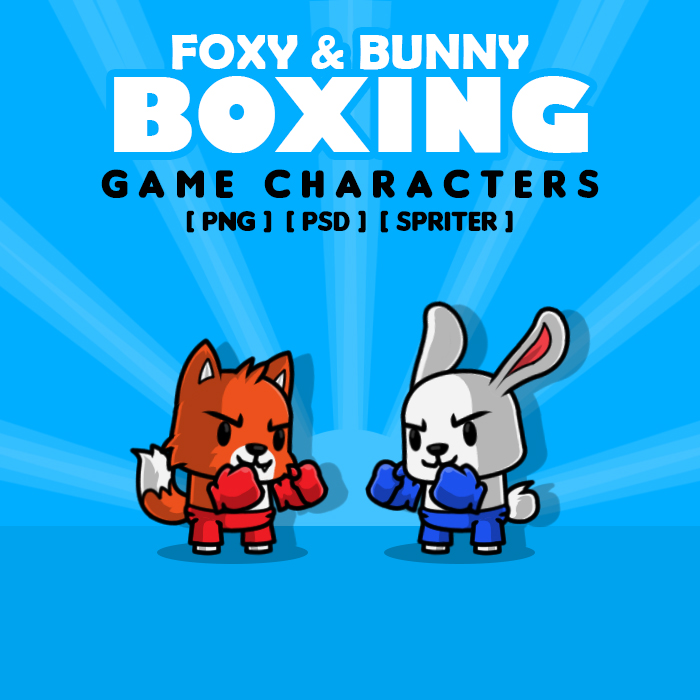 Foxy Bunny Boxing Game Characters