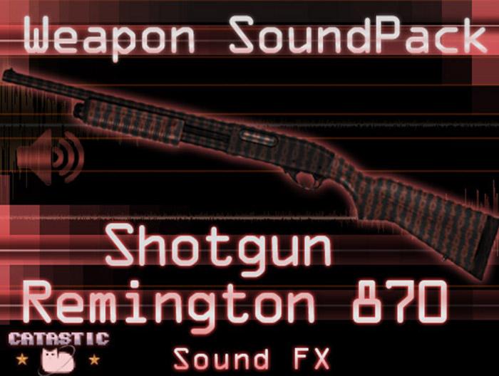 Weapon Sound Pack – Shotgun: Remington 870