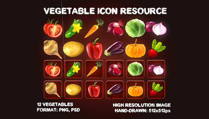 Vegetables Icons Resource [Pack]