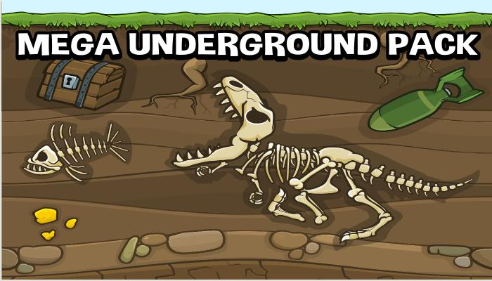 Mega underground scene creator pack