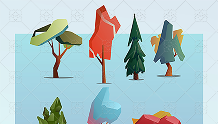 abstract geometric trees