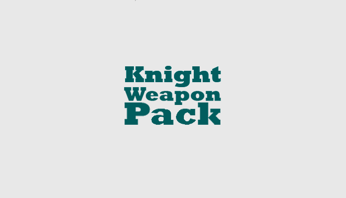 Knight weapon pack