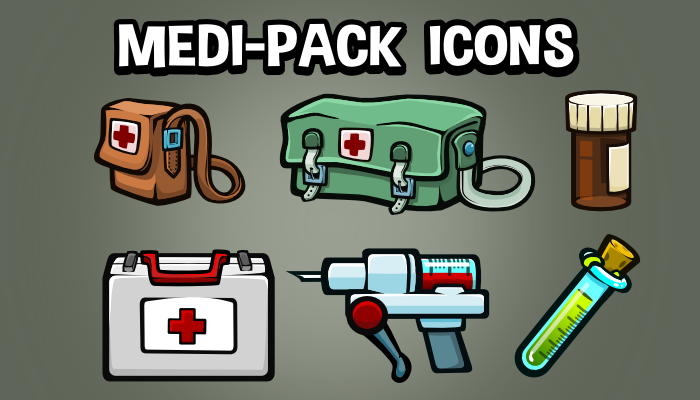 Medi pack pick up icons