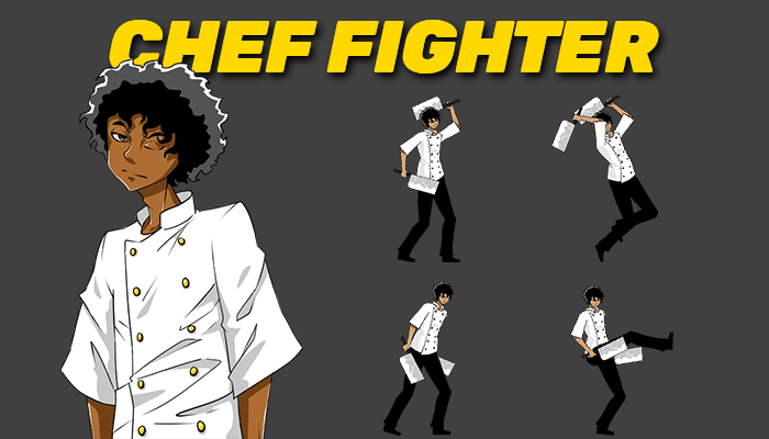 Chef Fighter Sprite