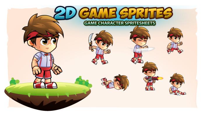Jovi 2D Game Character Sprites