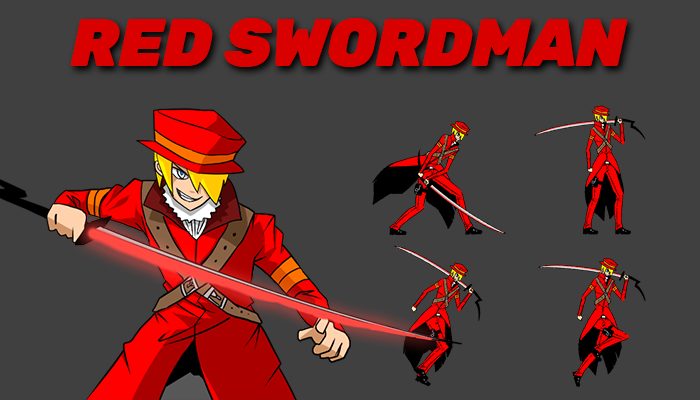 Red Swordman Character Sprite