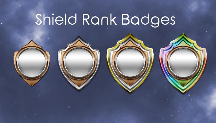 Shield Character Rank Badges