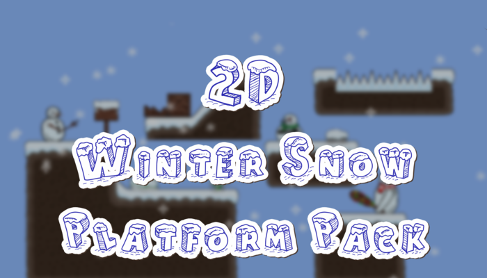 2D Winter Snow Platform Pack