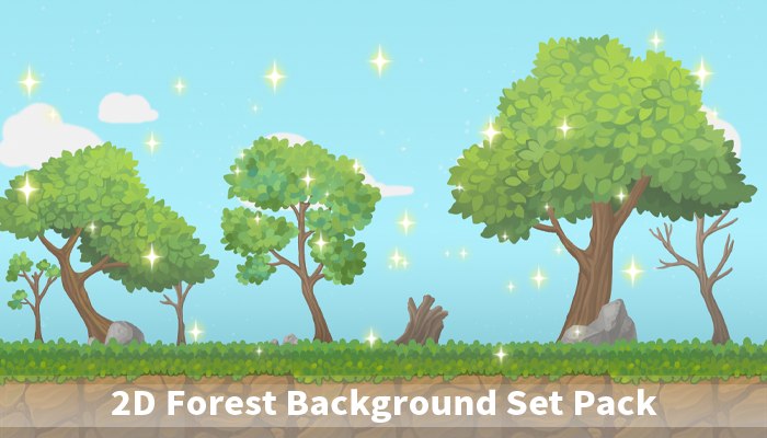 2D Forest Background Set Pack
