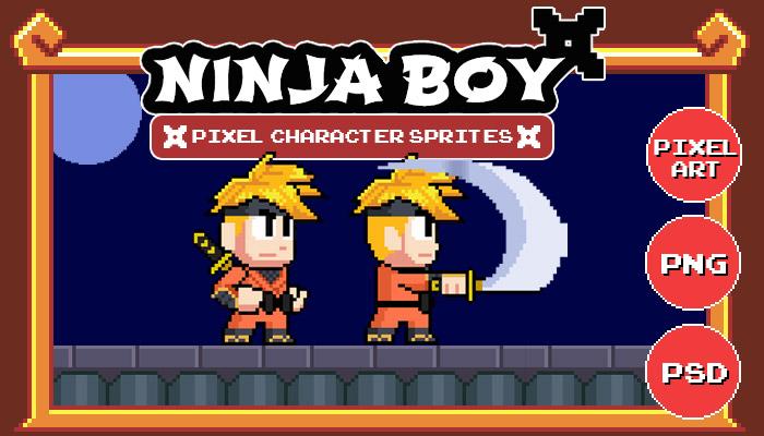 Ninja Boy – Pixel Character Sprites