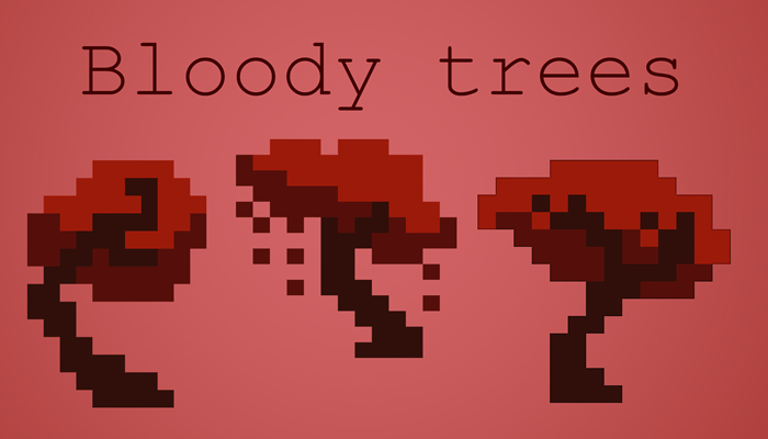 pixel bloody trees