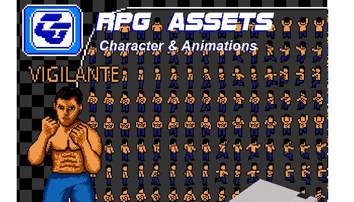 RPG Asset Character 'Vigilante' NES