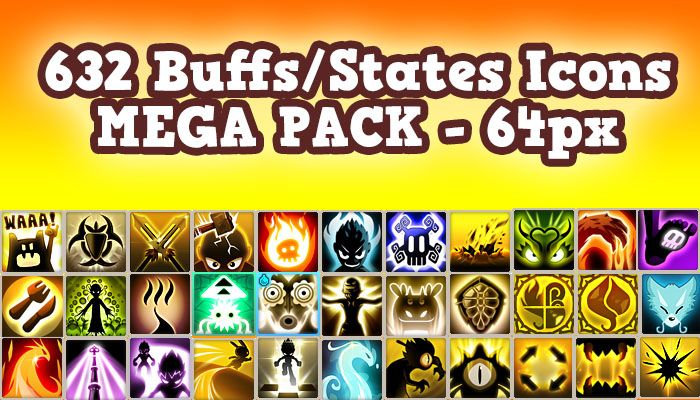 632 Buff/State Icons 64px MEGA PACK