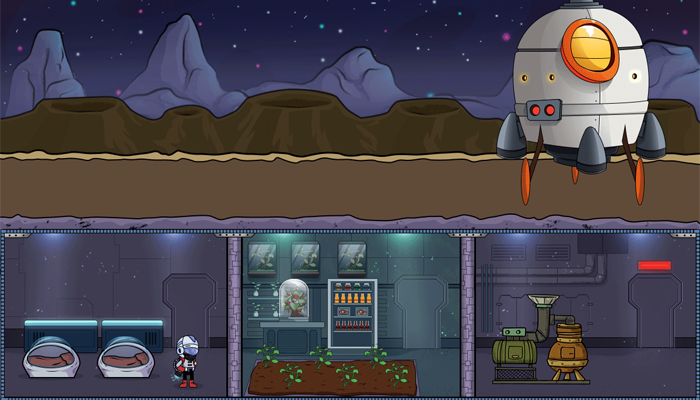 Mobile 2D Space Colony Building Asset