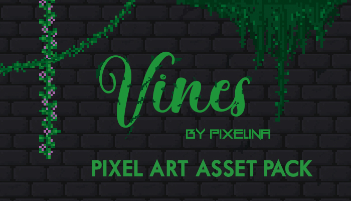 Vines Pixel Asset Pack by Pixelina