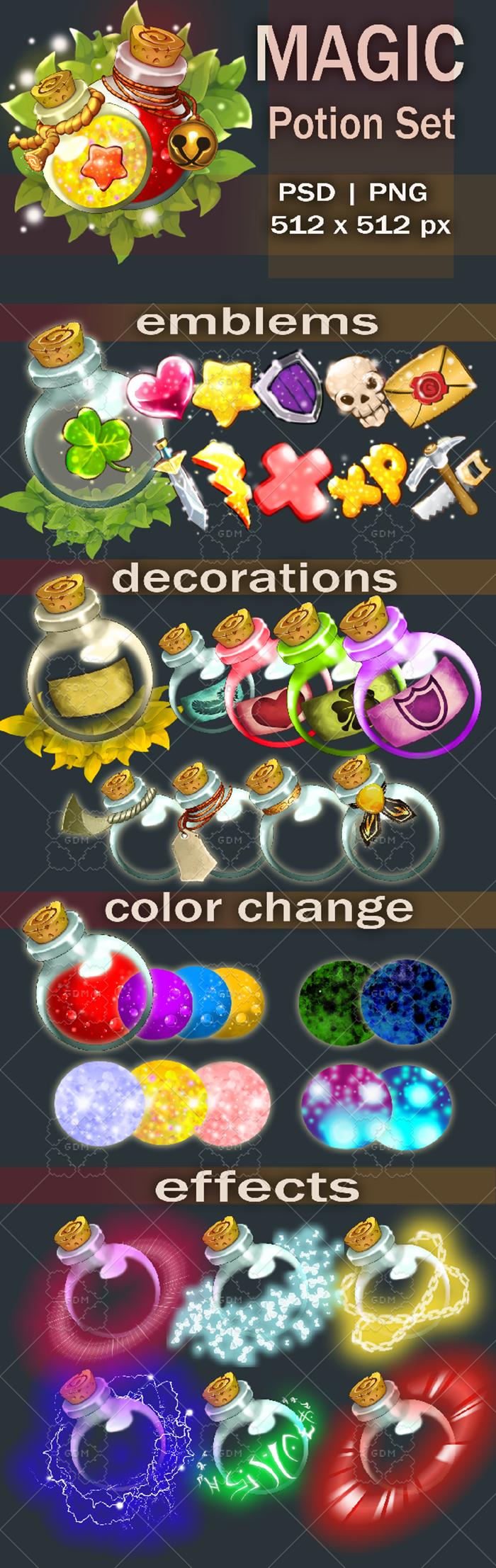 Magic potion set