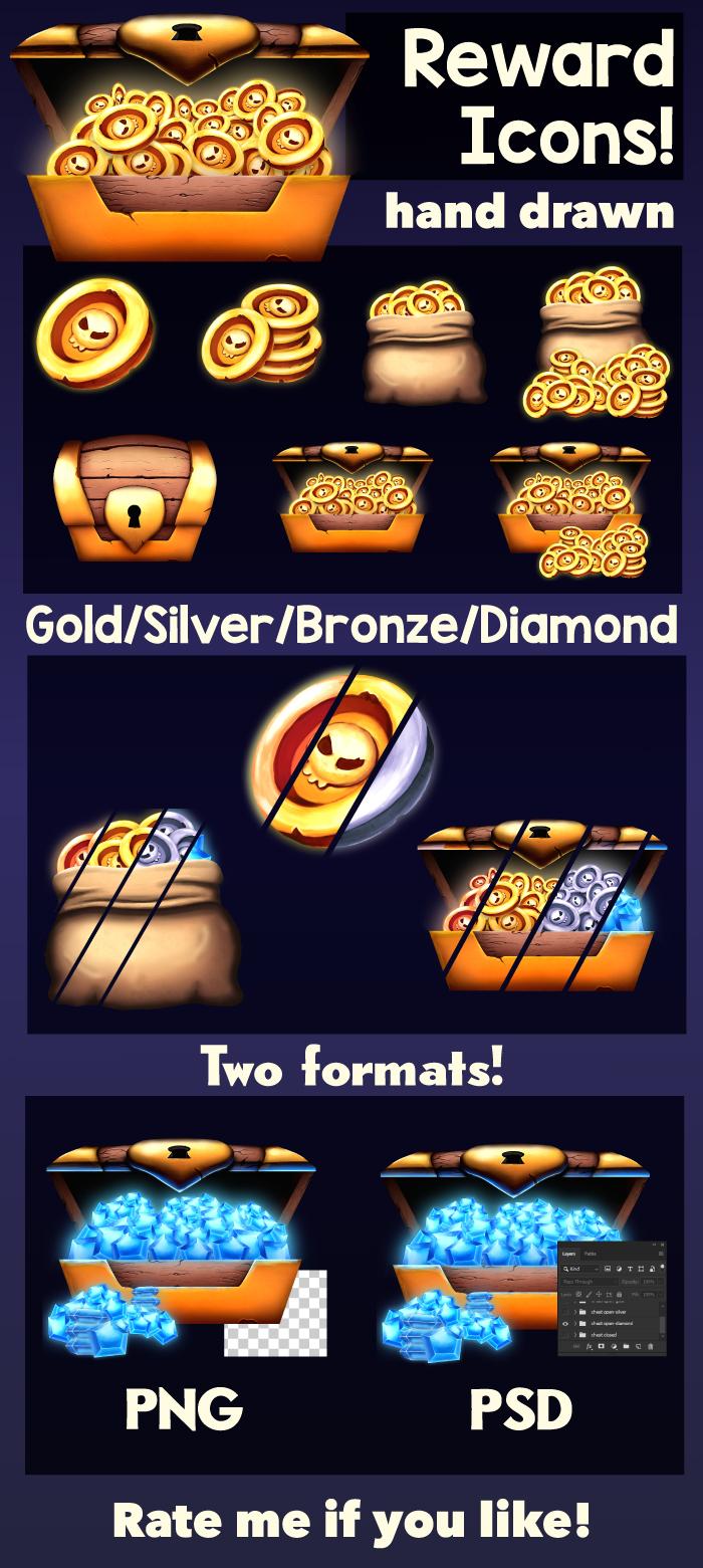 Reward & Treasure Icons