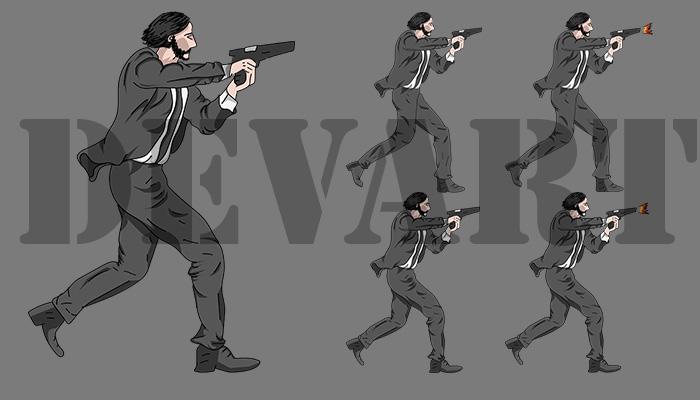 Man in the suit 2D